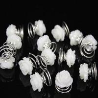 thumb-Prachtige Ivoor Kleurige Roosjes Curlies - 5 stuks-2