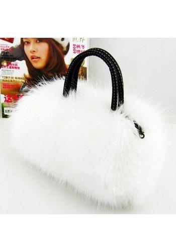 Tasje Fluffy Off White / Ivoor
