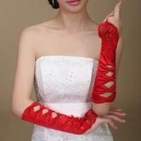 thumb-SALE - Elegante Rode Bruidshandschoenen-5