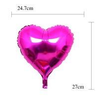 thumb-Helium Ballon - Hart - Roze - 5 stuks-2