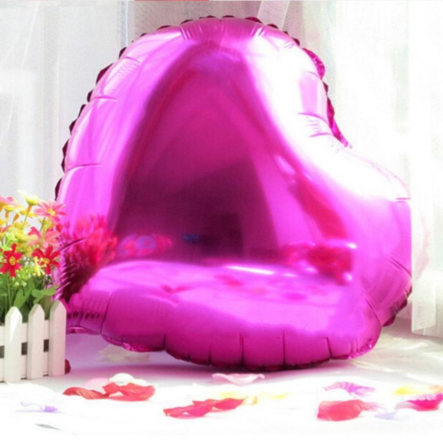 Helium Ballon - Hart - Roze - 5 stuks-4