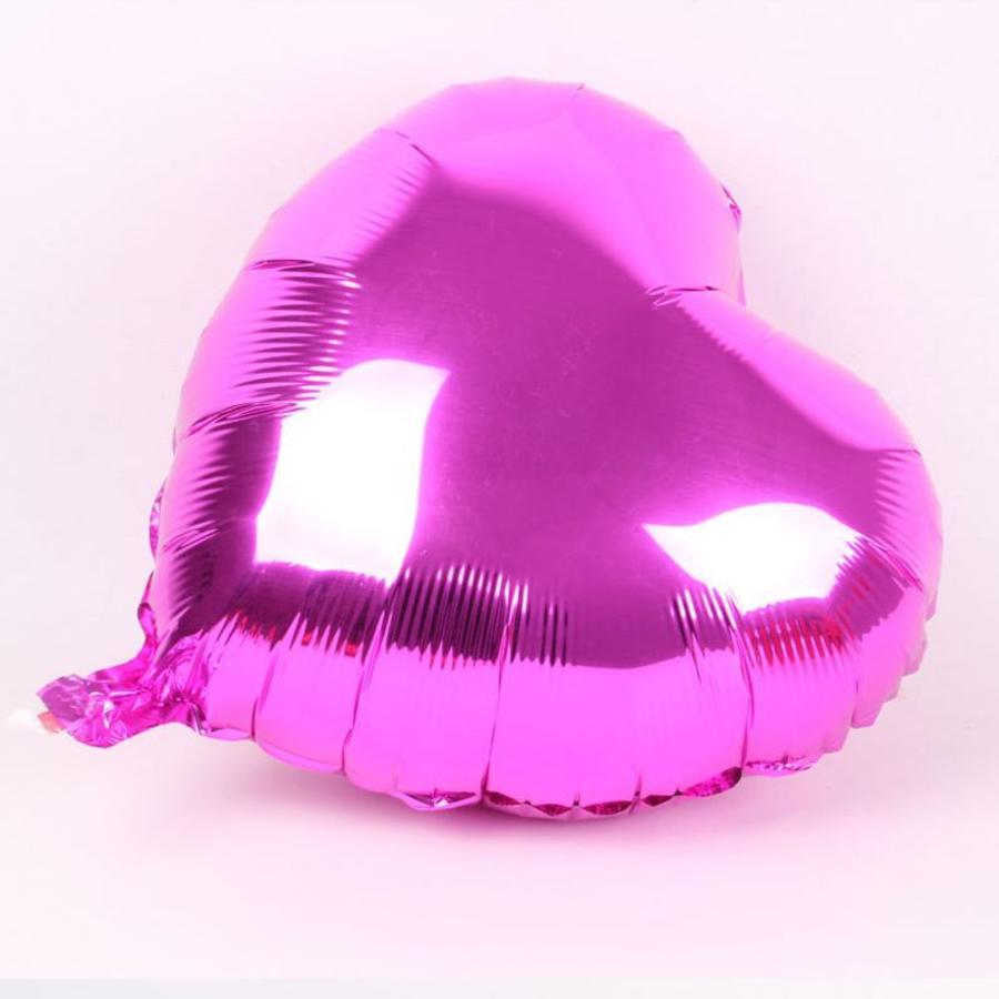 Helium Ballon - Hart - Roze - 5 stuks-1