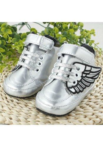 Sneakers met Vleugels - Zilver