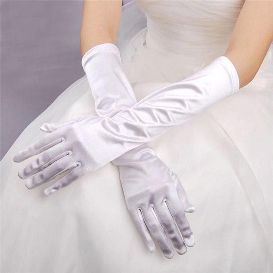 SALE - Chique Witte Bruidshandschoenen-1
