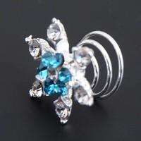 thumb-Curlies Crystal & Aqua - 6 stuks-2