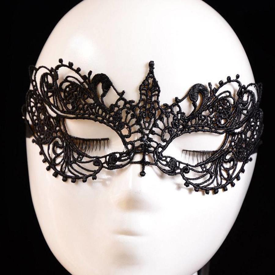 Party Masker - Zwart-3