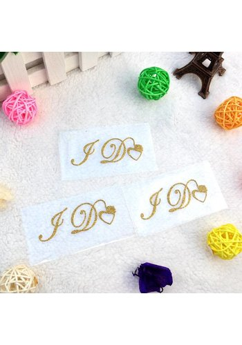 'I DO' Sticker - Goud