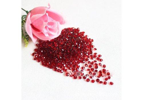 Decoratie Steentjes - Diamantjes - Rood - 1000 stuks