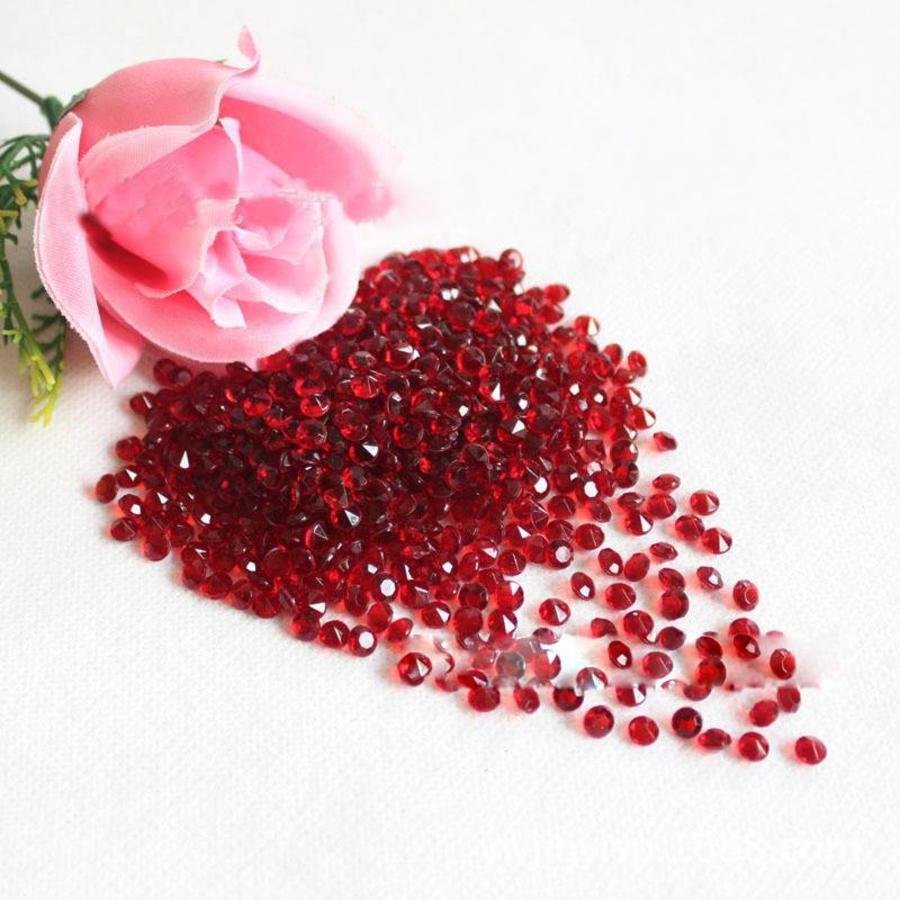 Decoratie Steentjes - Diamantjes - Rood - 1000 stuks-1