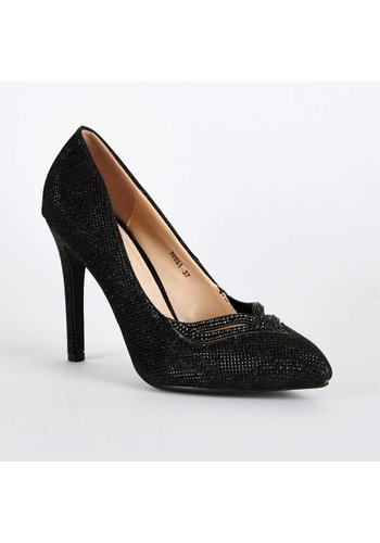 SALE - Pumps - High Heels - Belle Women - Zwart