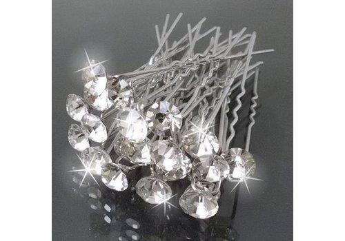Hairpins – Grote Kristallen - 5 stuks