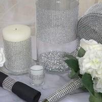 thumb-Diamanten 'Lint' - 90 cm. - Zilver -  Bruiloft Decoratie - DIY-4