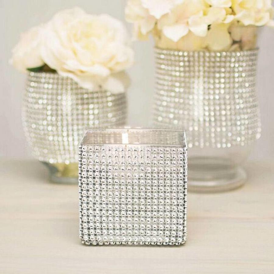 Diamanten 'Lint' - 90 cm. - Goud - Bruiloft Decoratie - DIY-6