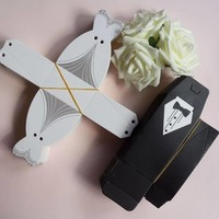 thumb-Geschenk doosjes / Cadeau doosjes - 50 stuks - Bruid & Bruidegom-4