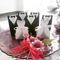 thumb-Geschenk doosjes / Cadeau doosjes - 50 stuks - Bruid & Bruidegom-2