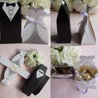 thumb-Geschenk doosjes / Cadeau doosjes - 50 stuks - Bruid & Bruidegom-5