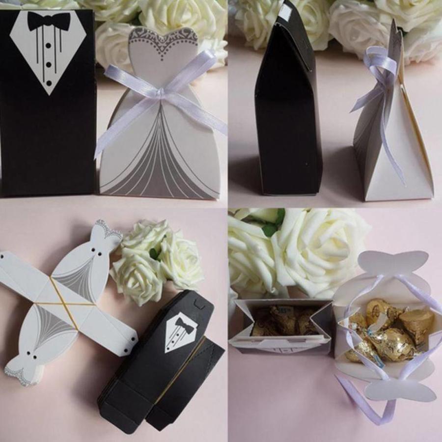 Geschenk doosjes / Cadeau doosjes - 50 stuks - Bruid & Bruidegom-5