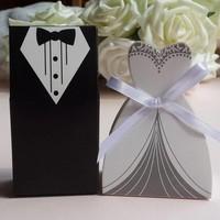 thumb-Geschenk doosjes / Cadeau doosjes - 50 stuks - Bruid & Bruidegom-6
