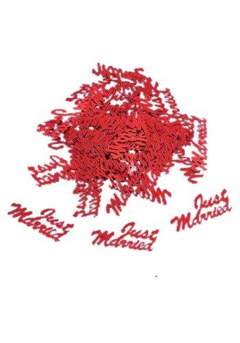 Confetti - Just Married - Rood - 350 stuks