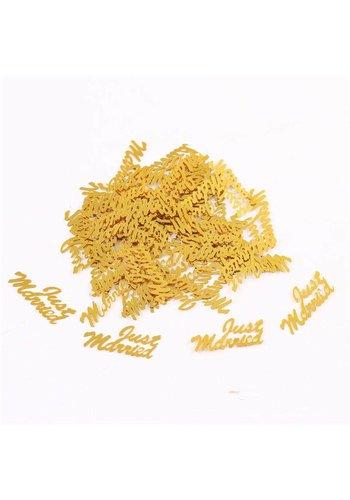 Confetti - Just Married & Hartjes - Goud - 350 stuks
