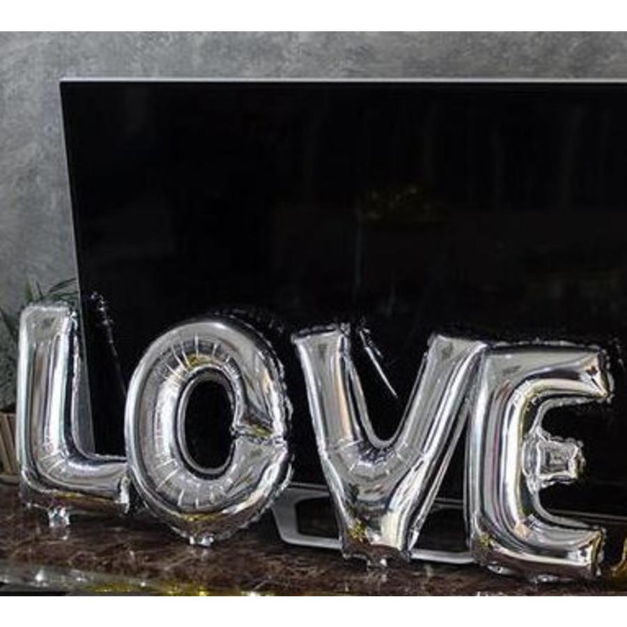 SALE - LOVE - Helium Ballonnen - Zilver-2