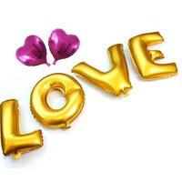 thumb-SALE - LOVE - Helium Ballonnen - Goud-1