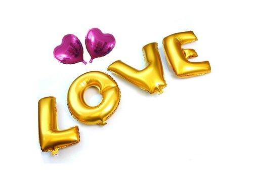 SALE - LOVE - Helium Ballonnen - Goud