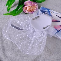 thumb-Chique Fascinator / Birdcage Veil - Ivoor / Off White-5