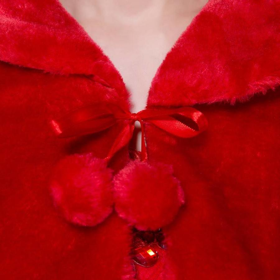Elegante Bolero - Rood - Maat S (of kleine M)-5