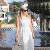 thumb-Chique Witte Fascinator-5