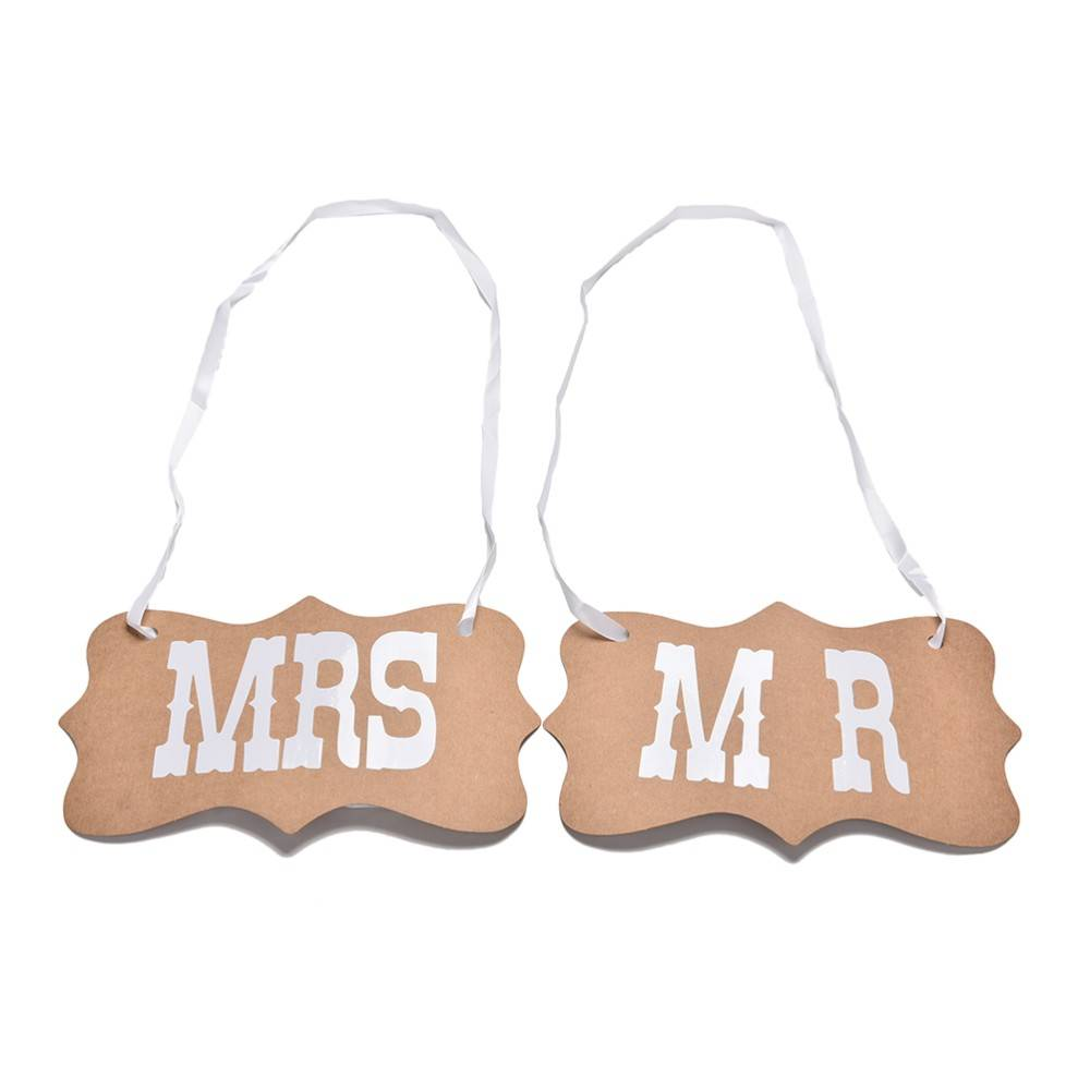 Mr mrs bordjes bruiloft decoratie - Decoratie afbeelding ...