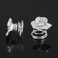 thumb-Fonkelende Curlies met Diamant - 6 stuks-1