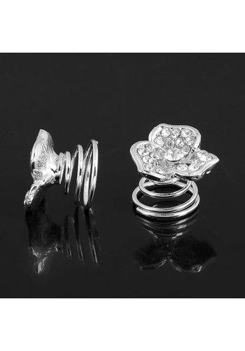 Fonkelende Curlies met Diamant - 6 stuks