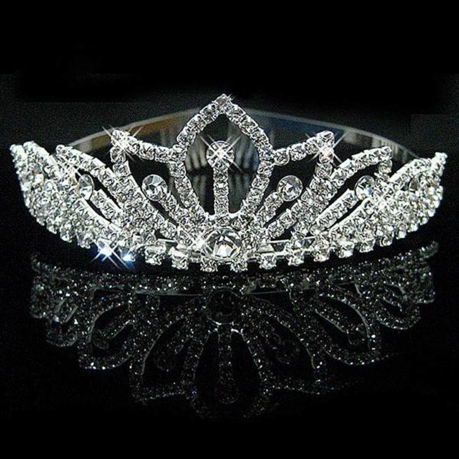 Elegante Fonkelende Tiara / Kroon-2