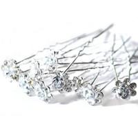 thumb-Hairpins – Zilver Grijs Roosje - 5 stuks-2