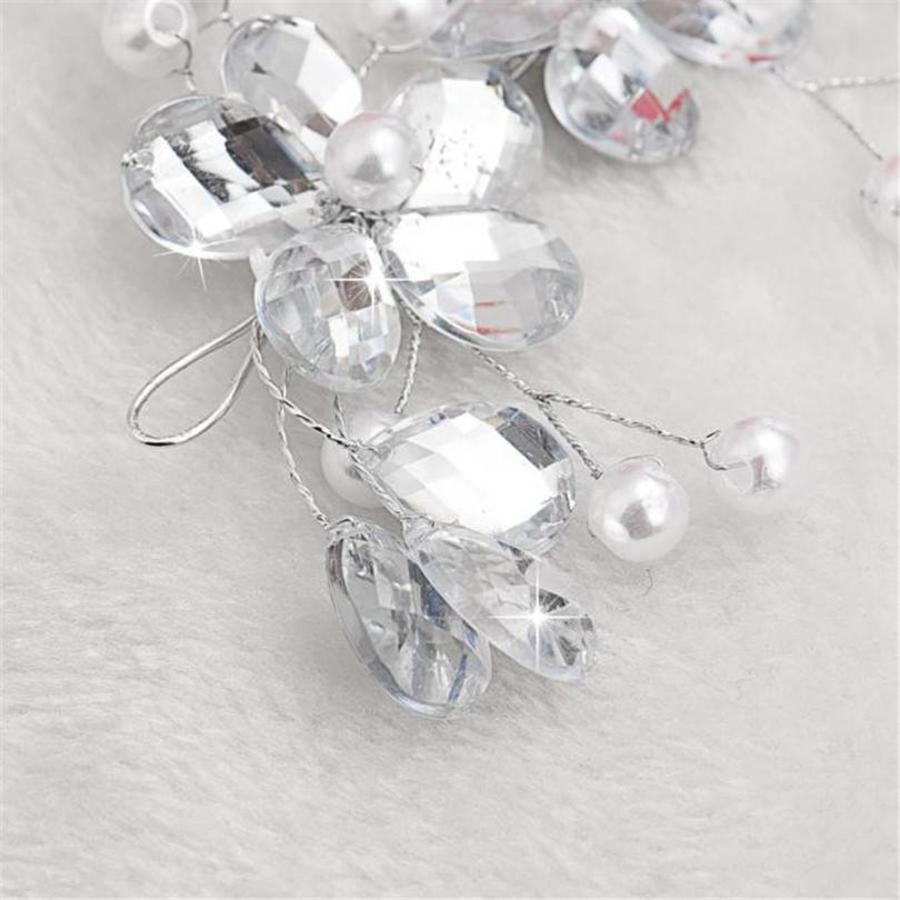 SALE - Elegant Haar Sieraad met Parels en Diamanten-3