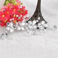 thumb-SALE - Elegant Haar Sieraad met Parels en Diamanten-4