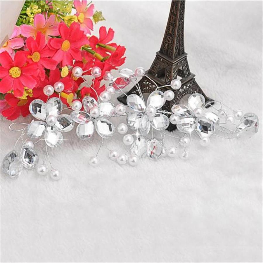 SALE - Elegant Haar Sieraad met Parels en Diamanten-4