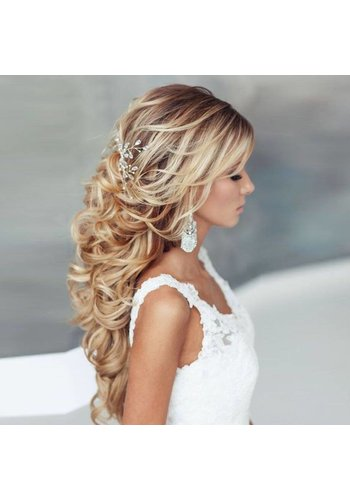 SALE - Elegant Haar Sieraad met Parels en Diamanten