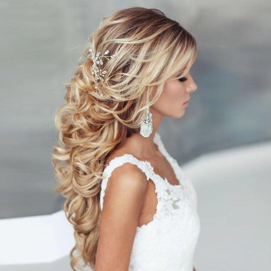 SALE - Elegant Haar Sieraad met Parels en Diamanten-1