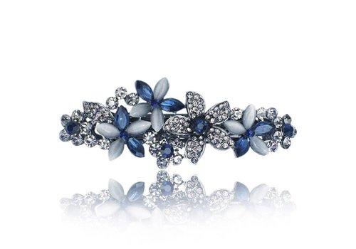 Chique Bloemen Haarclip - Blauw