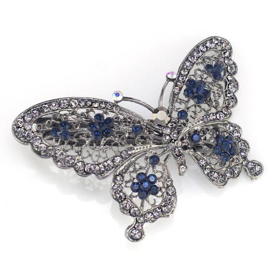 SALE - Fonkelende Vlinder Haarclip - Blauw-1