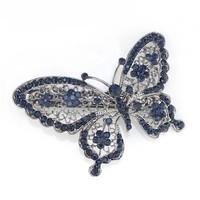 thumb-SALE - Fonkelende Blauwe Vlinder Haarclip-1