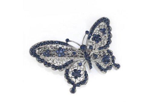 SALE - Fonkelende Blauwe Vlinder Haarclip