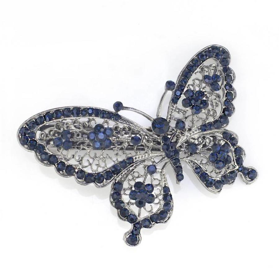 SALE - Fonkelende Blauwe Vlinder Haarclip-1