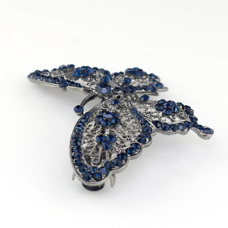 SALE - Fonkelende Blauwe Vlinder Haarclip-2
