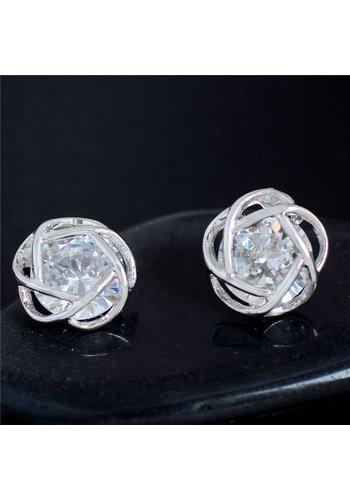 Elegante Oorbellen met Fonkelende Diamant