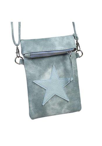 SALE - Flip top star bag / schoudertas / Groen
