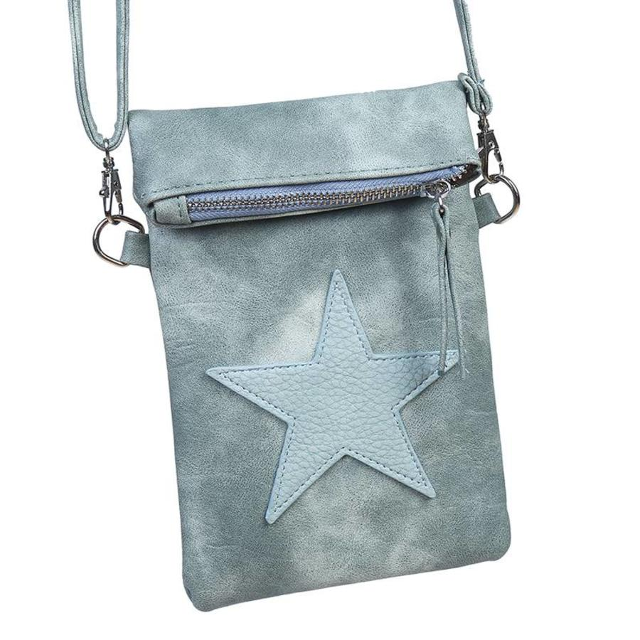 SALE - Flip top star bag / schoudertas / Groen-1