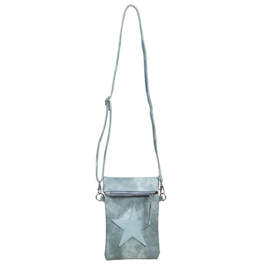 SALE - Flip top star bag / schoudertas / Groen-2